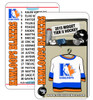 Cheer on your team and follow the game knowing the kids names and number. Fans love the reference cards! These plastic PVC cards fit in any wallet!