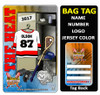 Personalized Lacrosse Luggage Bag Tag with Loop