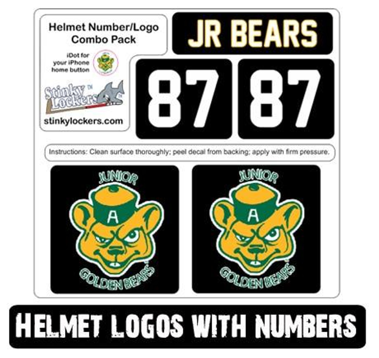 Helmet Sticker Pack-With Number