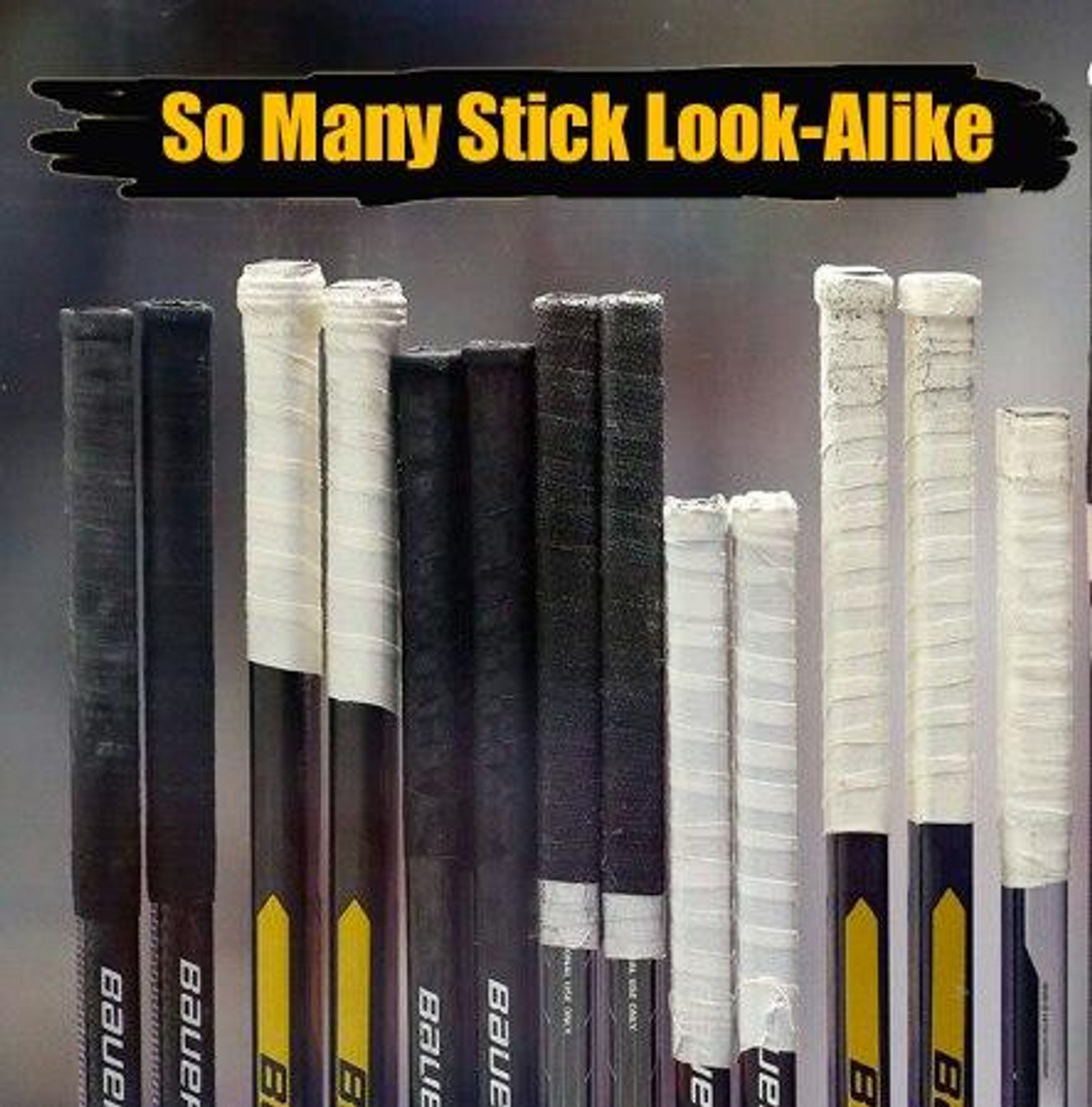 Personalized Hockey Stick Stickers-6 Pack