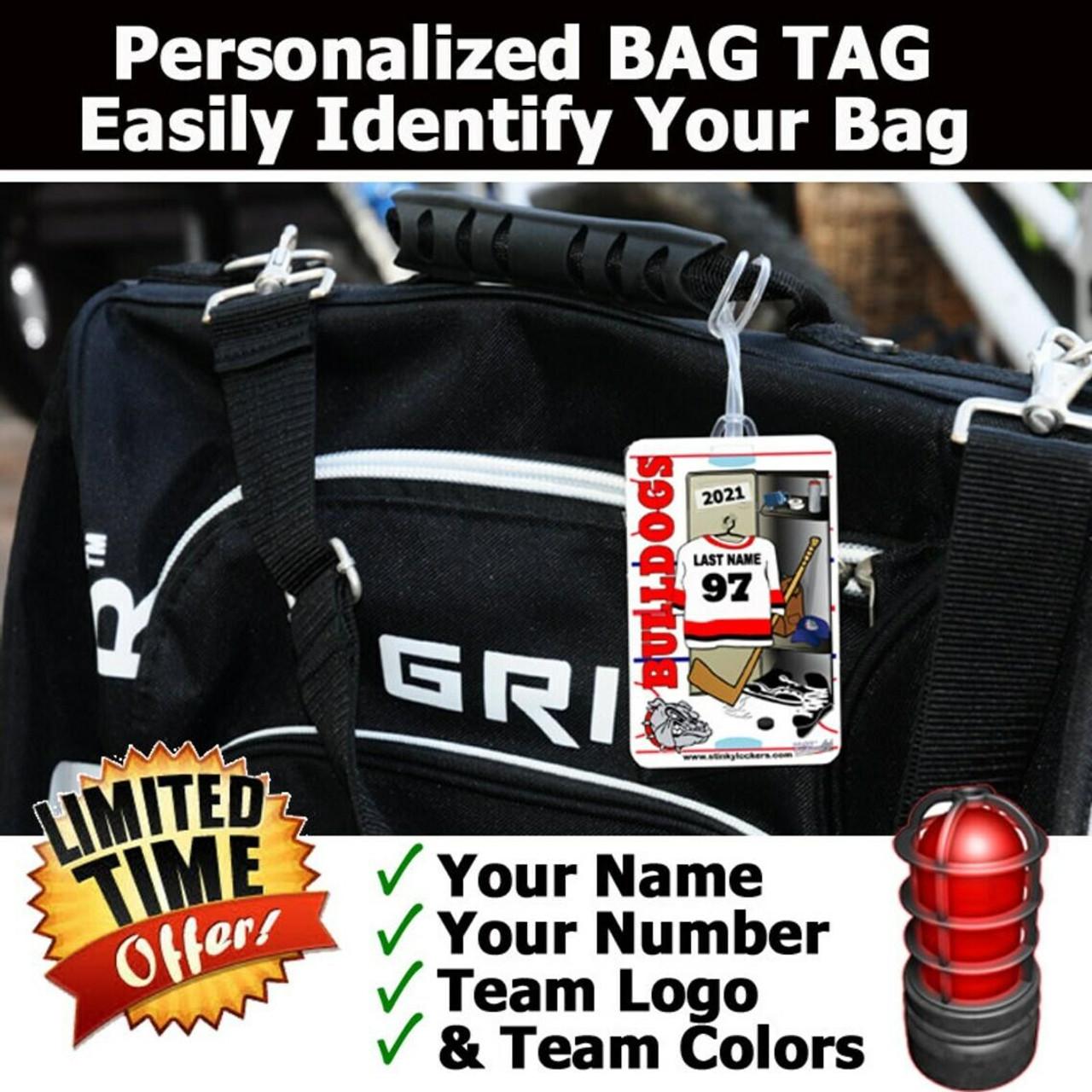 Personalized Hockey Luggage Tag