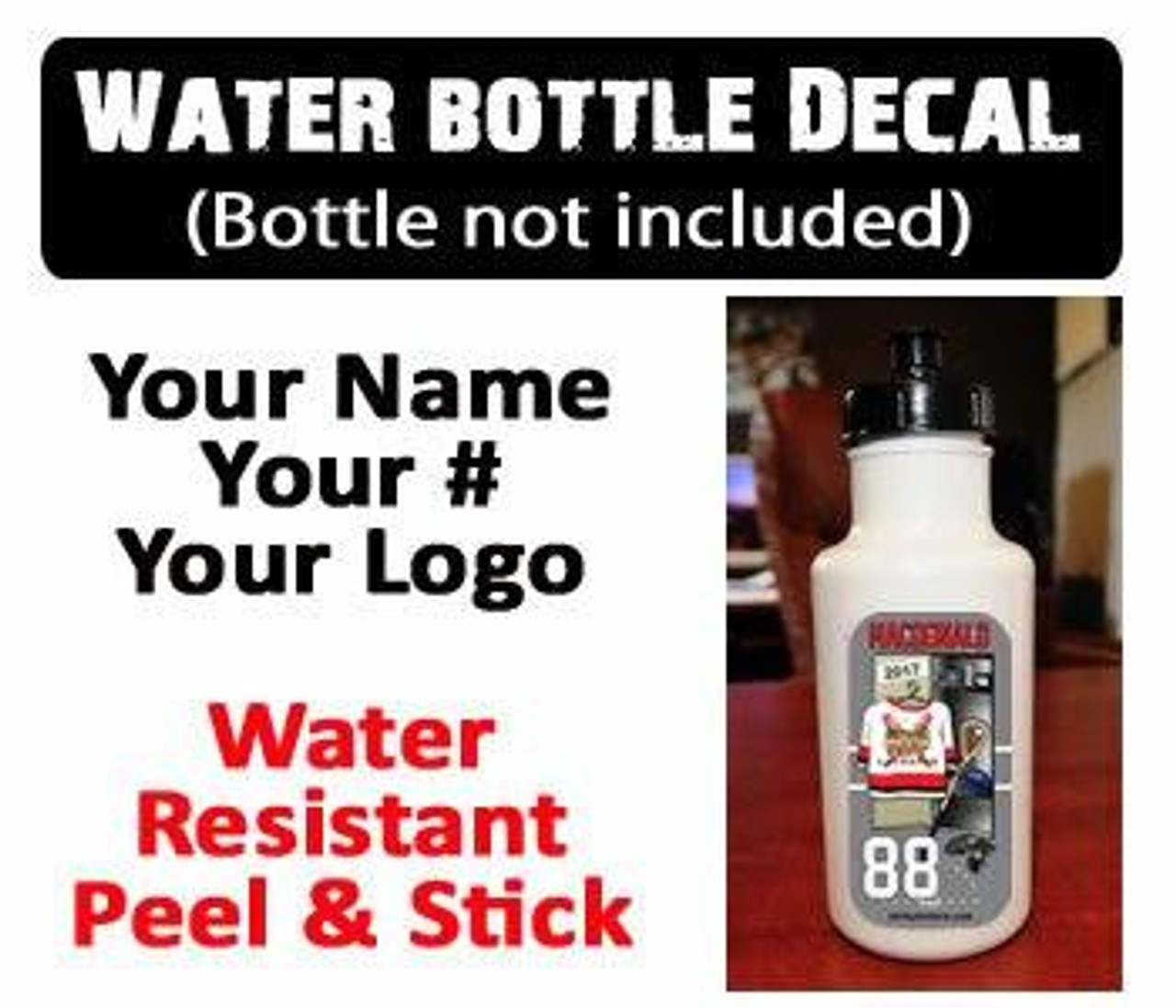LAX Stick Label and Water Bottle Decal Combo