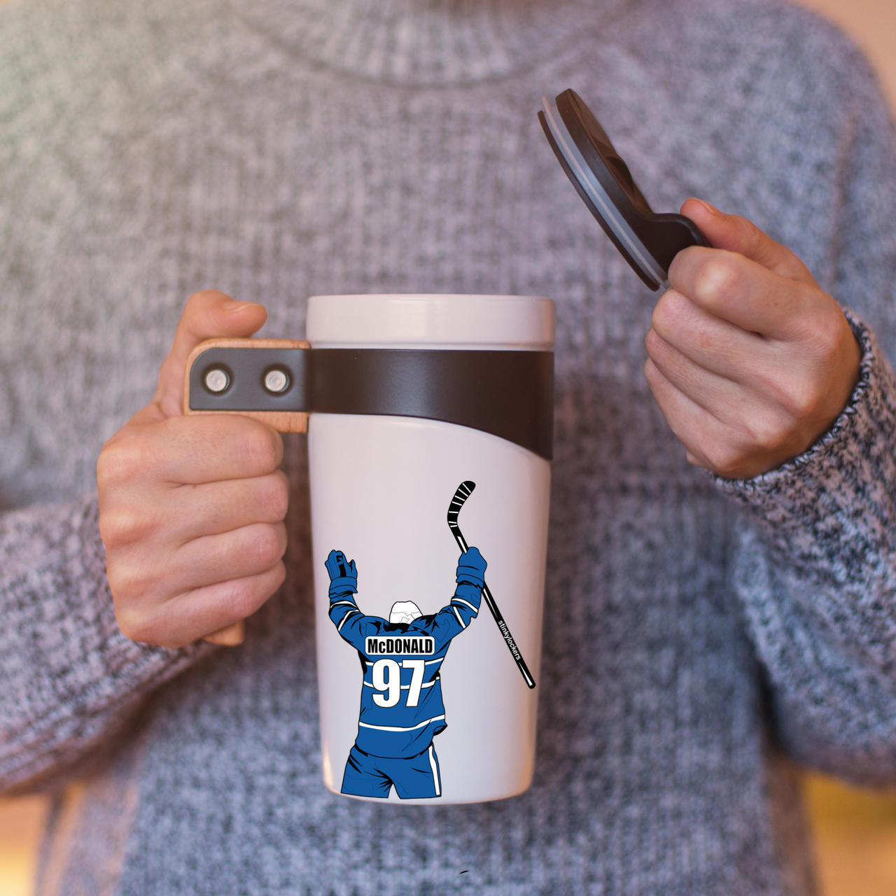 Personalized Hockey Water Bottle Sticker