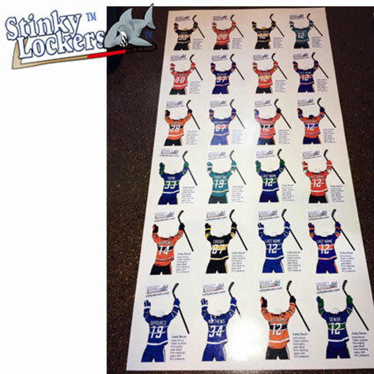 Personalized Lacrosse Water Bottle Sticker