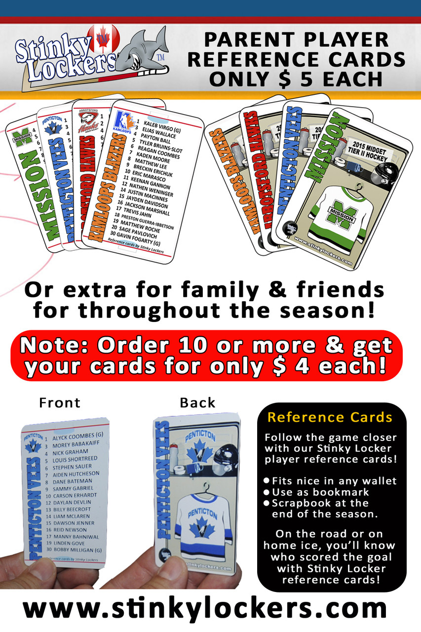 Get into the game with Reference Cards by Stinky Lockers