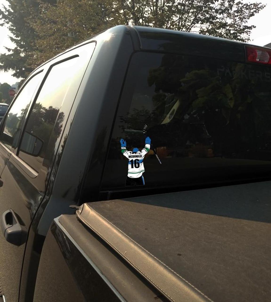 Personalized Hockey Window Sticker