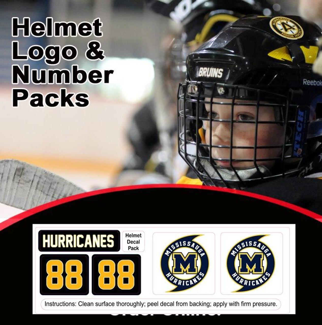 Hurricane Helmet Sticker Pack-With Number