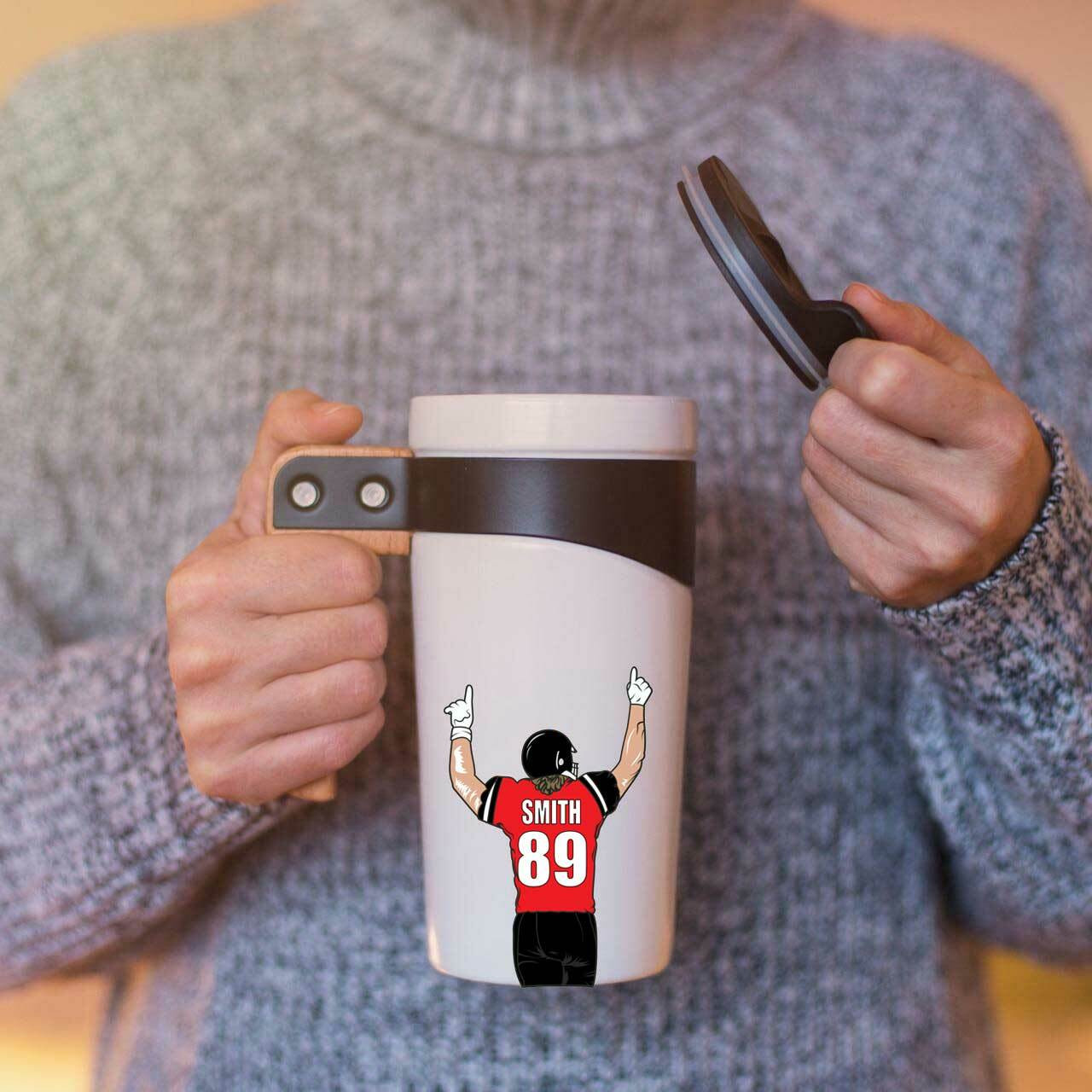 Personalized Football Stickers-3 Pack