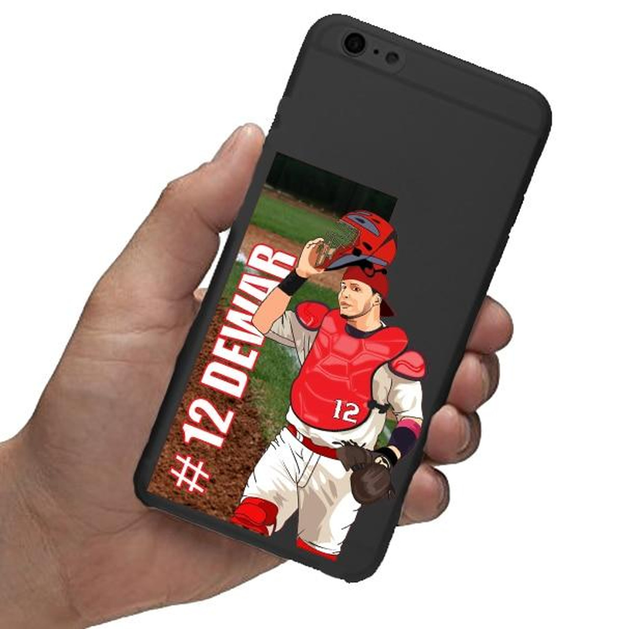 Personalized Baseball Catcher Stickers-3 Pack