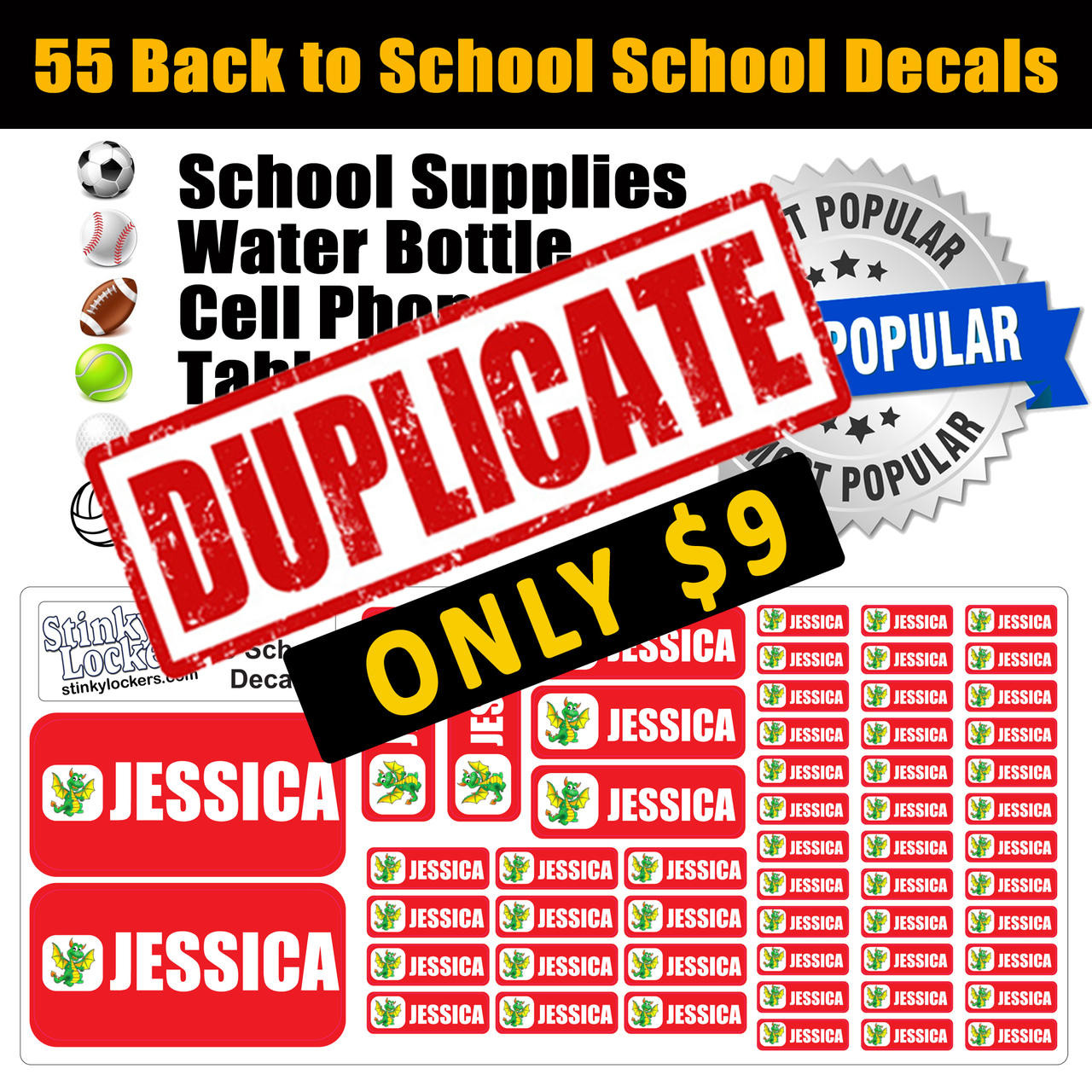Back to School Stickers-Duplicate