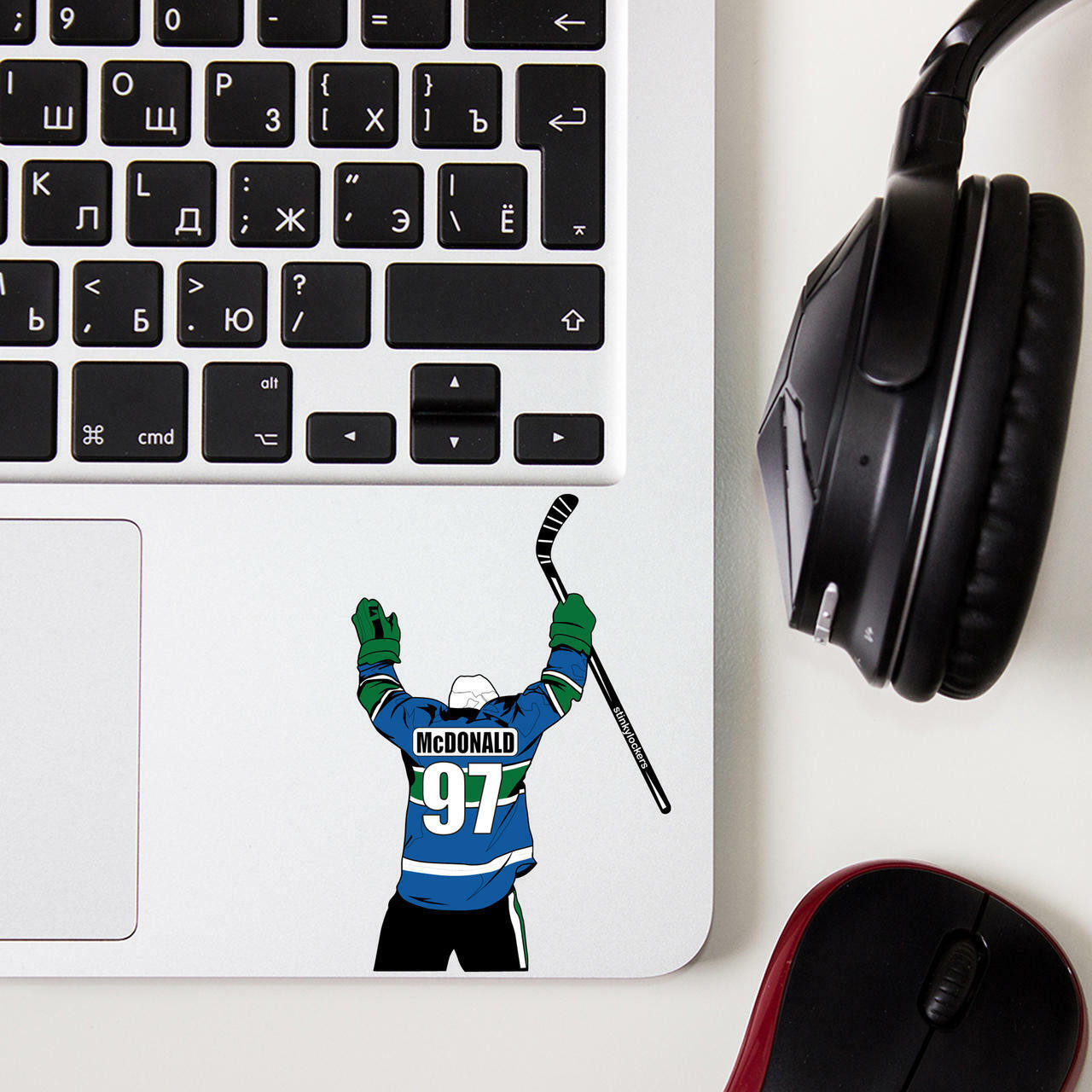 Personalized Hockey Stickers or Water Bottle or Laptop or Cell Phone 3 Pack