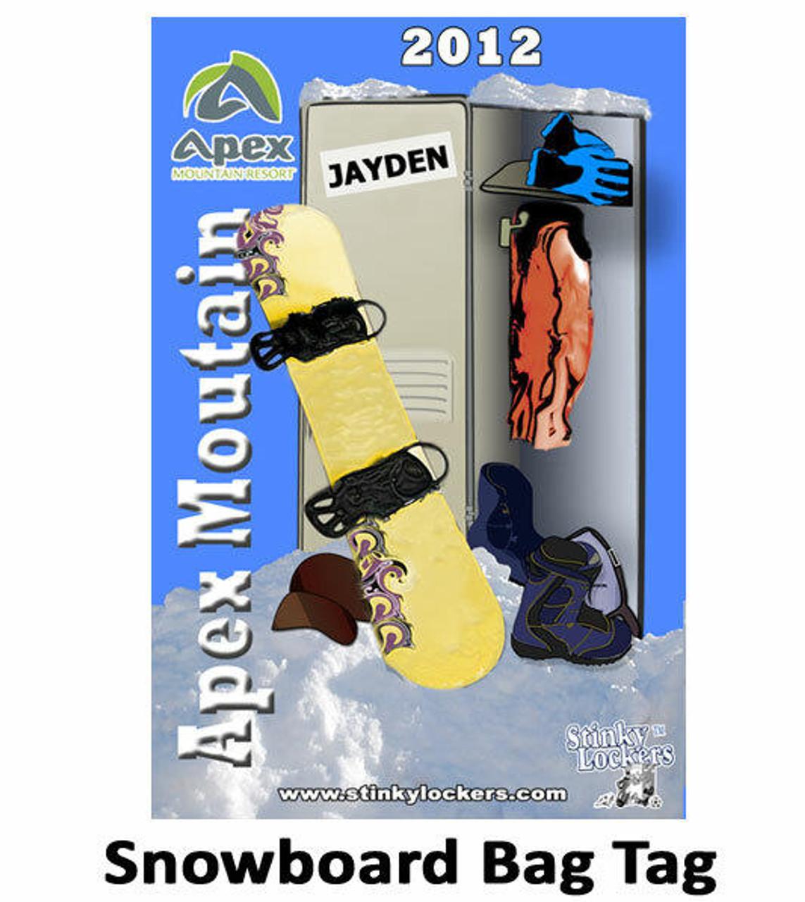 Snowboarding Bag Tag