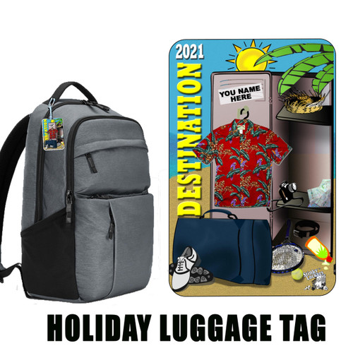 Personalized Luggage Tag - Sunny Travel His