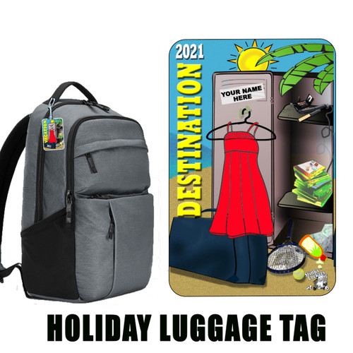 Personalized Sunny Luggage Tag with Loop-Hers