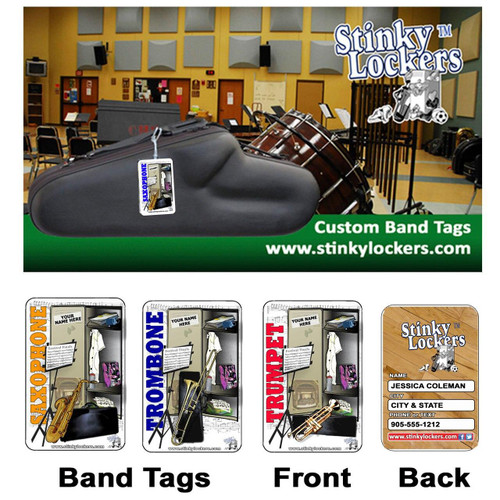 Personalized Trumpet Case Luggage Tag with Loop