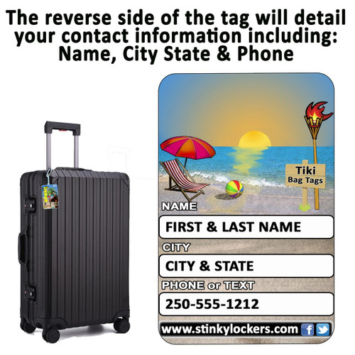 Personalized Africa Luggage Tag with Loop