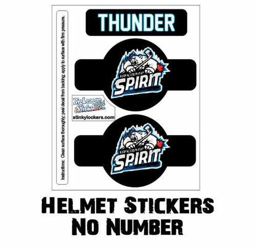 Helmet Sticker Pack-No Number