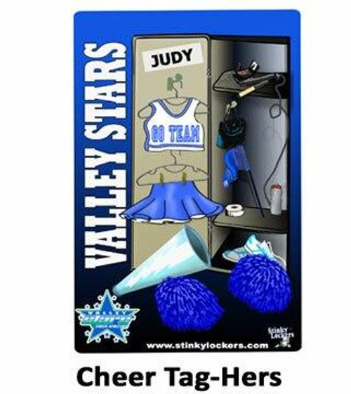 Personalized Cheer Team Luggage Tag and Sticker Combo