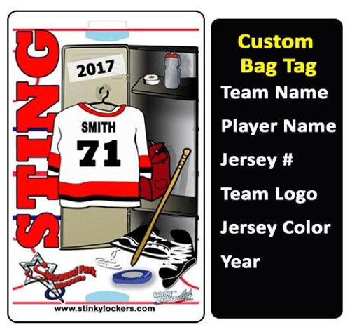 Ringette Bag Tag and Stick Label Combo