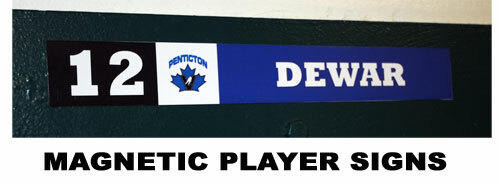 Personalized Player Magnetic Sign