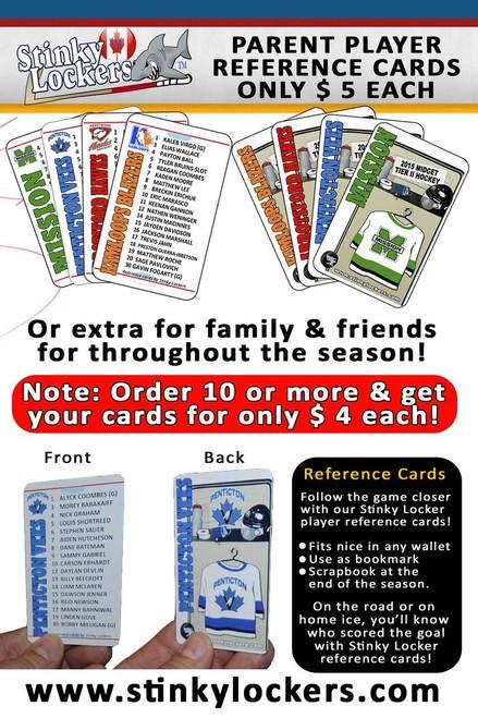 Parent Reference Card-Baseball
