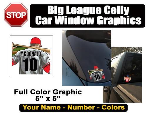 Personalized Baseball Softball Window Sticker