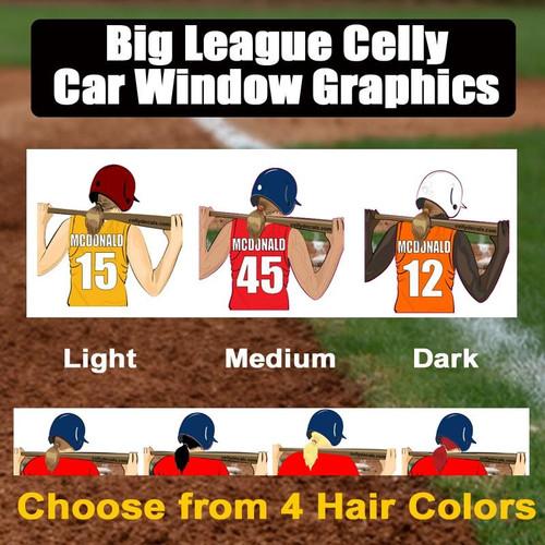 Personalized Window Graphic-Softball