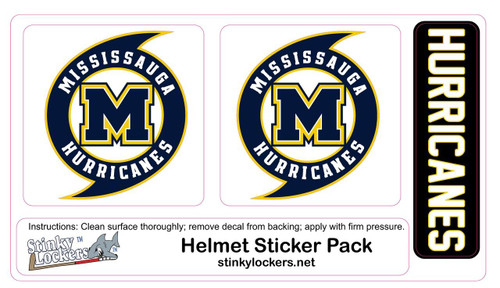 Hurricane Helmet Sticker Pack-No Number