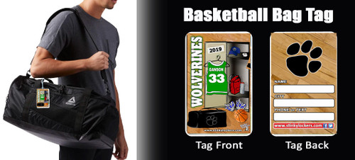 Personalized Basketball Luggage Tag with Loop