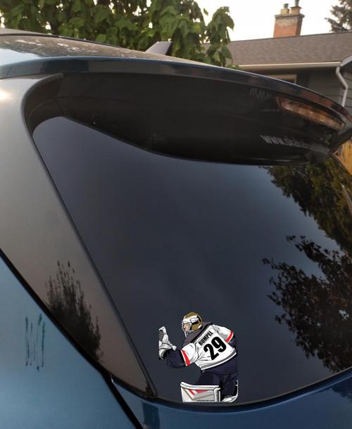 Personalized Hockey Goalie Window Sticker