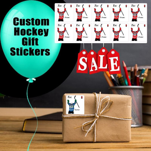 Personalized Hockey Gift Labels -Set of 10