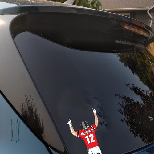 Personalized Football Window Graphics