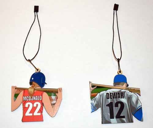 Personalized Color Baseball Ornament for Your Baseball Player