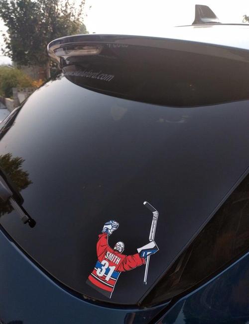 OHA Personalized Hockey Window Sticker