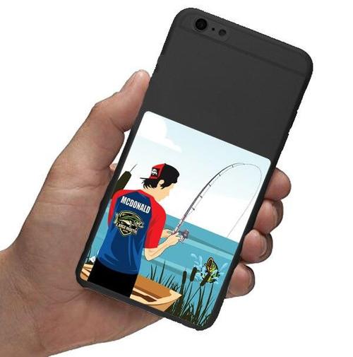 Personalized Bass Fishing Waterproof Sticker-6 Pack