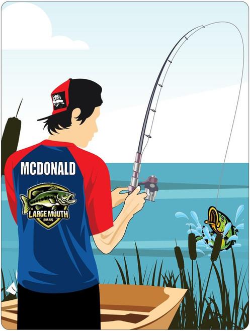 Personalized Bass Fishing Window Graphic