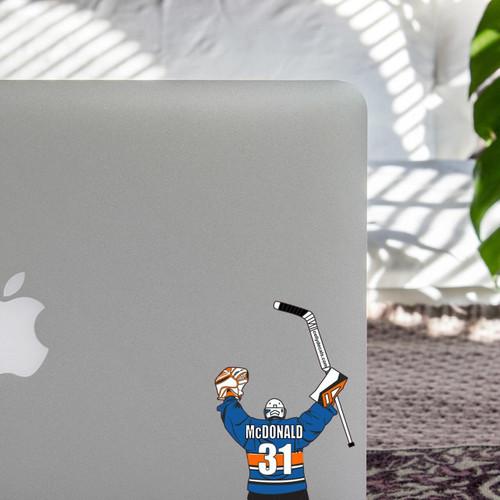 Personalized Hockey Laptop Sticker