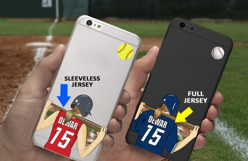 Personalized Softball Cell Phone Sticker