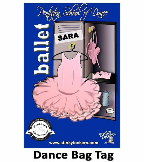 Personalized Dance Luggage Tag with Loop