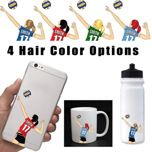 Personalized Volleyball Cell Phone Sticker