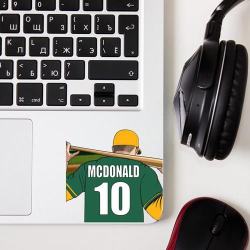 Personalized Baseball Thermal Mug Sticker