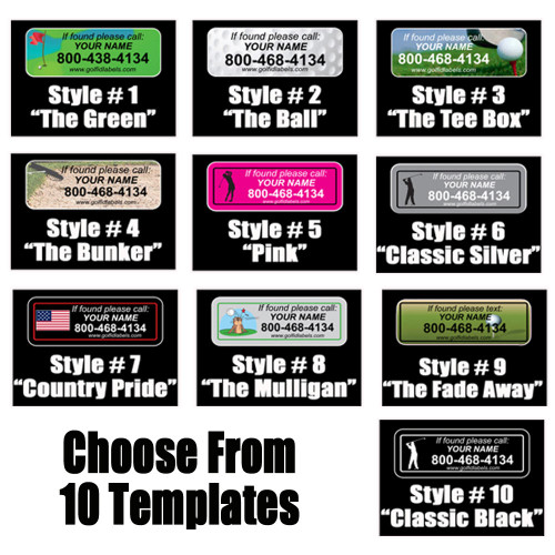 Personalized Golf Club Stickers - Set of 14