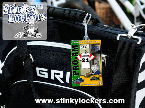 Personalized Football Luggage Tag with Loop