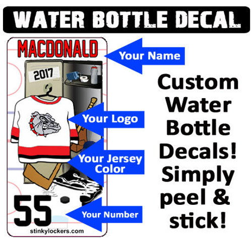 Hockey Water Bottle Decal
