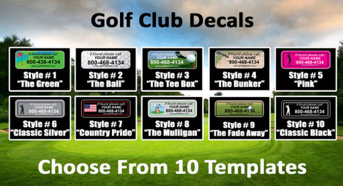 Personalized Golf Club Stickers - Set of 14 Morning Read Promotion