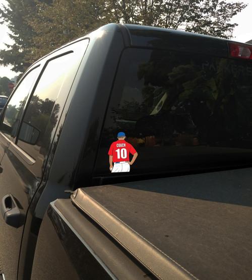 Coach Baseball Softball Window Sticker