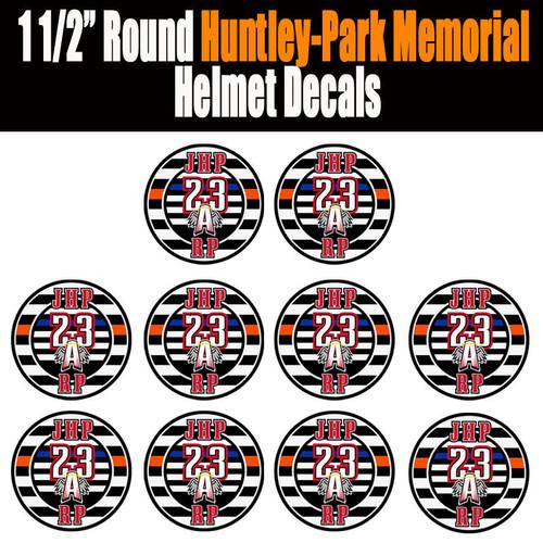 Huntley-Park Memorial Helmet Decal - 10 Pack