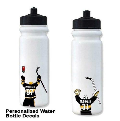 10 Pack Bottle Hockey Sticker -Team Order