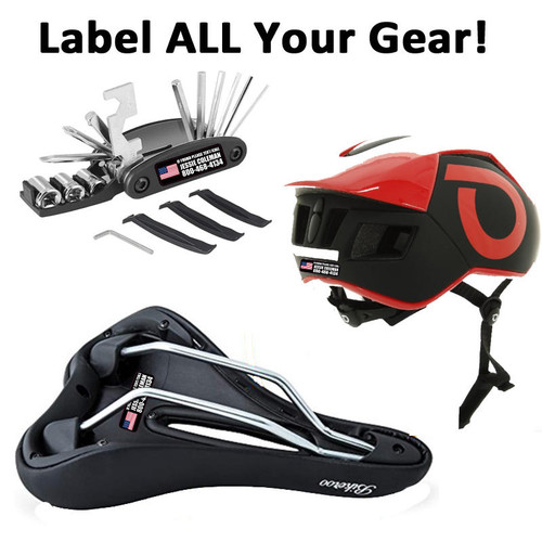 Personalized Cycling Accessory Decals