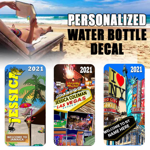 Personalized Travel Water Bottle Decal